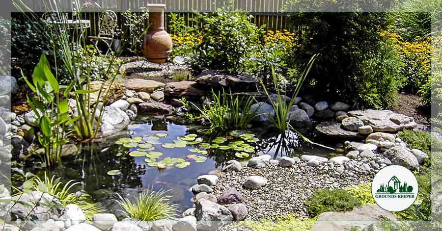 Pond With Ceramic Pot
