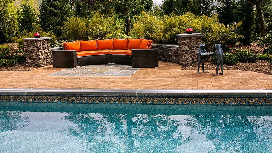 lap pool and patio furniture